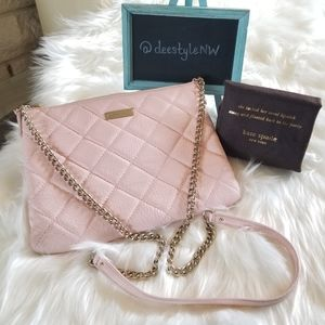 Kate Spade 14K Gold Crossbody Bag w/ Diamond Quilt